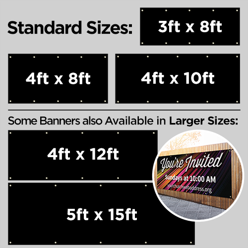 Banners, 3 x 8 Banner: Your Design, 3' x 8' 4